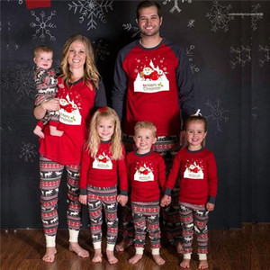 Family 2PCS Set Clothes Casual Familys Leisure Wears Christmas Day Familys Designer 2PCS Pants Fashion Christmas Print