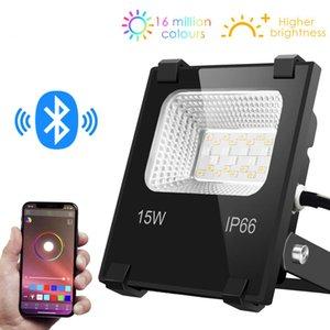 Intelligente Scheinwerfer LED Outdoor-Licht RGB-15W Bluetooth4.0 360 APP Group Control IP66 Garten Wasserdicht Farbwechsel Spotlight
