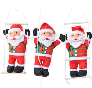 60CM Kletterseil Leiter Weihnachtsmann Weihnachtsdekorationen Außenweihnachtsmann-Puppe Anhänger neues Jahr-Dekorationen Tropfen Ornament