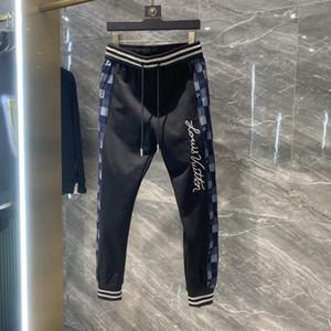 20SS França última moda verão Itália calça jeans Side costura homens mulheres algodão casual de beisebol calças azul preto