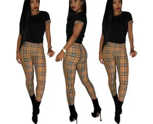 2020 Новый дизайнерский бренд Европы и женской моды American FF Женские узкие брюки + футболка досуг спорт двухсекционный комплект, парирует костюм