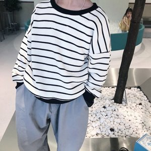 2020 Striped blouse boy girl baby children's clothing, autumn and winter new pullover sweater comfortable warm sweaterK91710