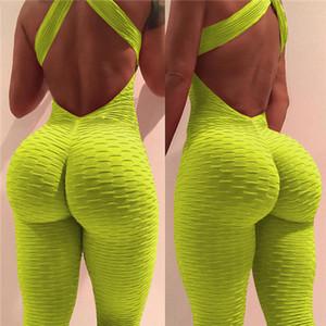 nuove donne di stile Backless sexy esercizi di yoga pantaloni fitness e coscia-alti delle tute in otto colori archivio