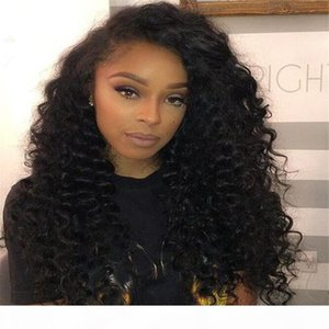 Full Lace Human Hair Wigs For Black Women 7A Brazilian Hair Loose Curly Wave Glueless Lace Front Human Hair Wigs