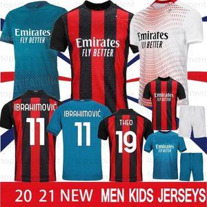 Thai AC Milan 20 21 New Futebol 2020 2021 IBRAHIMOVIC Piatek Football Shirt Paquetá SUSO HIGUAIN CALHANOGLU CALDARA Homens Jerseys