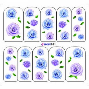 UPRETTEGO NAIL ART WATER DECAL SLIDER NAIL STICKER ROSE WINTER BLOSSOM SHOES PERFUME JEWLRY BOP031-039