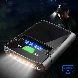 6 LED réglage pince Phare rechargeable Capteur Chapeau Lampe étanche IP64 Headlight Lampe torche batterie intégrée