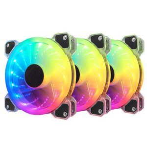 12cm Silent Symphony Luminous Crystal Clear Computer Cooling Fan RGB Fan Case