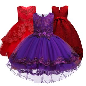 Hot! Kids Lace Girls charistmas Party Dresses,Children Summer 2020 Fashion Dresses Wedding Party Clothes Girls Dress 3-14T