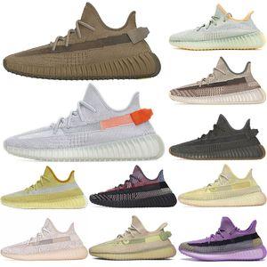 De calidad superior 2020 de Kanye West de los hombres zapatos corrientes Yecheil Yeezreel hiperespacio Lundmark Antlia estático reflectante cebra Israfil Oreo lino