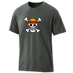 Mens Anime One Piece T-shirts 2020 de loisirs 100% coton Tops été Harajuku Vêtements Hip Hop Round Neck Casual Male Retro TShirts