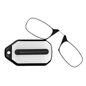 Eyewear Nose Mini su Mini Lettura Clip Donne Occhiali portatili Uomo Lettura Lettura ingranditore senza montatura Glasses Glasses Vetro NSCJI