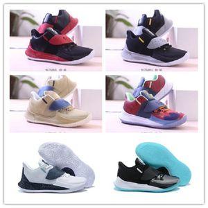 Koyu Erkek Kyrie 3 Düşük Basketbol Ayakkabı Irving 3S Erkekler Gençlik Yakınlaştırma Spor eğitimi Sneakers Chaussures Boyut Kyrie Düşük 3 Glow 7 ~ 12