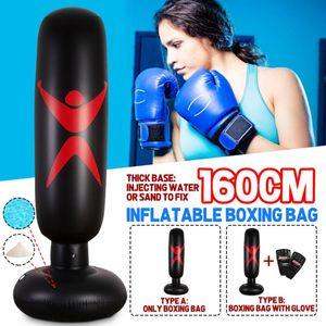 Boxing Training Fitness Vertical Thickening Boxing Bag SGODDE Bag Pillar Punching Fitness Column PVC Inflatable Tool Tumbler Ogsgh