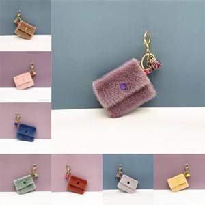 Fashion Cute Imitation Mink Fur Key Chain for Car Charm Key Ring Bag Pendant Keychain Wallet Bag Accessories 10 Styles