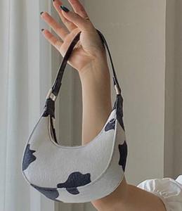 Design Mini-Kuh-Muster Crescent-Tasche 2020 neue Art und Weise Eines-Schulter-Beutel-bewegliche Achsel Messenger Bag PH-LQ20071802