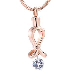 New Design Unique Elegant Memorial Jewelry 316L Stainless Steel Cremation Urn Pendant Ashes Holder Keepsake Necklace