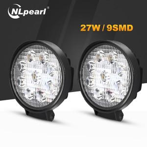 Nlpearl 4 pulgadas 27W LED de luz de niebla para los coches Ronda 12-24 Asamblea Car Light Beam 6000K brillante para campo a través SUV camiones de la lámpara LED de ATV