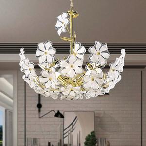 Acryl Pflaumenblüte führte Decken Kronleuchter Crystall Blumen Speisehängeleuchten Romantische Schlafzimmer Pendelleuchten Innenbeleuchtung