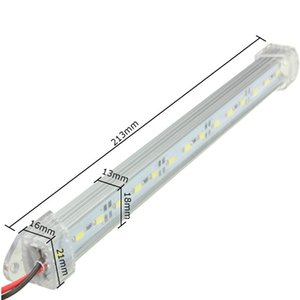 12V 23.5cm SMD 5630 LED Car Interior Light Bar Tube Strip Lamp Van Boat Caravan Motor home Truck White Yellow