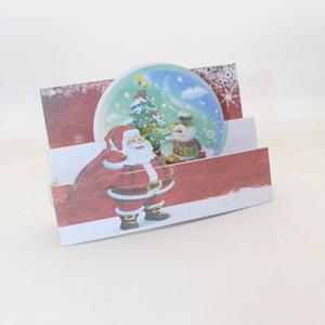 2 Styles de pliage de type main Père Noël Arbre de papier d'invitation Cartes de voeux Joyeux Noël PostCard Enfants Nouvel An cadeau