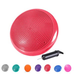 Balance Cushion 33cm with Pump Massage Mat Yoga Mat Inflatable Anti-Slip Stability Board for Fitness Posture Massage etc
