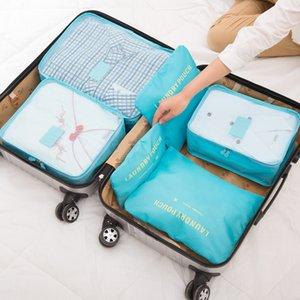 6PCS Sac de stockage voyage Mesh étanche en option Multicolor Organisateur Set Vêtements Bagages Sous-vêtements de finition Accessoires Pouch