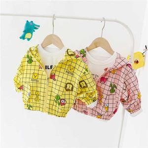 HYLKIDHUOSE Bebés Meninas Coats 2020 Infant Outono Jacket recém-nascido com capuz Outdoor Crianças Crianças Casacos Casual