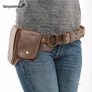 Pin On Waist Hip Packs Pouch Bag Viking Pocket Belt Leather Wallet Travel Steampunk Fanny Gear Accessory Cosplay For Women 2GtY#