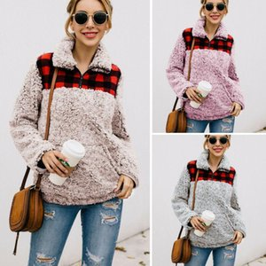 Frauen Winter warm Teddybär Fleece-Jacken-Mantel Aufmaß Fluffy Outwear New