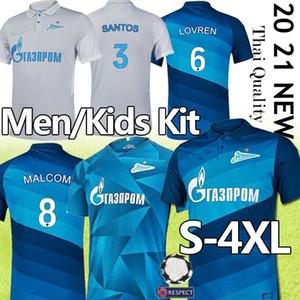 Thai FC Zenit Início azul Soccer Jersey 19 20 21 Zenit 10 Dzyuba 7 AZMOUN camisas do futebol 27 Uniformes Ozdoev Futebol