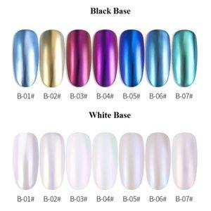 1 box Nail Mirror Glitter Chrome Pigment Powder Laser Holographic White Powder Dust Glitter Nail Art Decorations Manicure F570