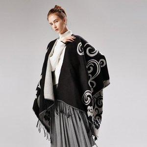Ladies scarf blanket fashion brand designer's 130x150cm Sherpa throw blanket winter warmth thick scarf mandala blanket split art