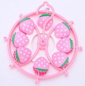 Caramelo -colored Animal fresa de la rana ropa de bebé Calcetines Pequeño secado Panel de plástico Percha
