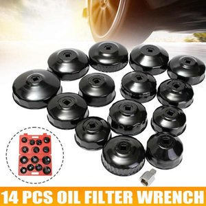 14pcs Oil Filter Removal Wrench Cap Universal Auto Car Tool Kit Housing Caps 4 Cylinder Non-Slip Hand Tool Set