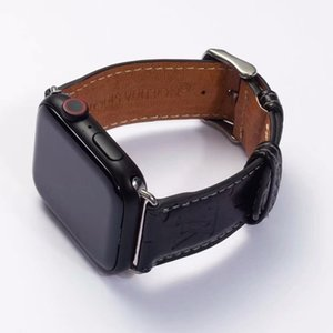 Top Brand Leather Watchbands for Apple Watch Band 40 42mm iwatch 1 2 3 bands Leather Strap Bracelet Fashion Stripes A15 A05