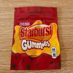 Airhea ojivas cuerda vacío Bolsas Mylar Gummies Starburst embalaje olor ¡DHL bolsas de embalaje 408 mg Prueba empollones gratuito Candy Bag medicado yxlBw