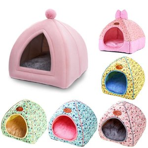Soft Pet Beds Tent Design Cat House with A Hole Warm Portable Removable Washable Cats Nest Litter Puppy Kennel