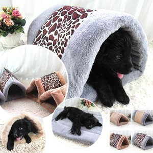 2-in-1 Small Cat Dog Pet Bed Dog Plush Macio Bed Nest Tubo de Almofada Cat Mat Pad para o outono Winte Quente Crate Casa Kennel