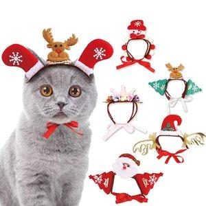 Cappello Costume Pet Dog Gatti Headwear per Natale Cat Cap Accessori Cosplay Travestirsi puntelli foto Copricapo