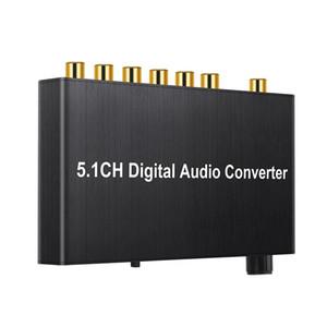 10set 192kHz Digital Audio Converter 5.1 canaux décodeur coaxial / Toslink à Jack de sortie de 2.0CH analogique avec contrôle du volume