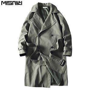 Casual Erkek rüzgarlıkları Katı Renk Erkekler Moda Dış Giyim JP62 T200907 Palto Misniki 2019 Yeni Erkekler Trençkot Erkek Ceket