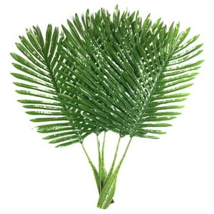 5 Pack Palm Leaves Fake Faux Artificial Plant Leaves Green Single Leaf Palm for Home Kitchen Party Supplies Tropical Deco