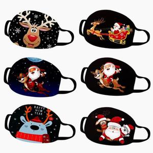 2020 Рождественские Хэллоуин Маска для лица Рождественские Украшения Взрослый Малыш Хлопок Маски для лица Многоразовые Анти-пыль Маска Мода Партия Маска 7 Стилей