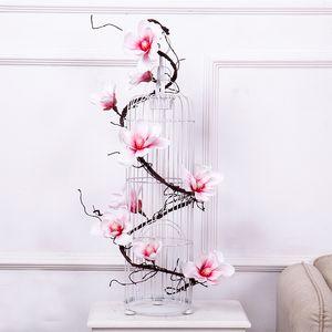 185cm orchid garland silk flowers wall tree branches wreath aritificial Magnolia plastic flowers Rattan vines wedding home decor