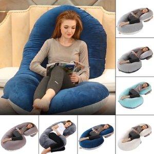 Atualizado Gravidez Pillow completa enchimento de algodão grávida Almofada Travesseiro Longo U Forma Maternidade Plillow Para Gestantes dormir