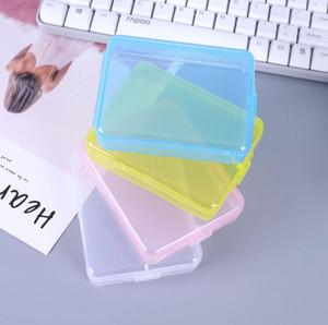 Пластиковые контейнеры для хранения Rectangle Mask Case Пусто Transparent Составляют Организаторы Пакет Портативный Mascarilla Шкатулки SN1482