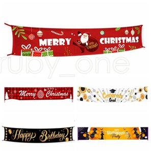 Merry Christmas Halloween Баннер Новогодние украшения для Главного Открытого Магазина Баннера Флаг пледа Санта-Клауса Натяжения Баннера Флаги RRA3588