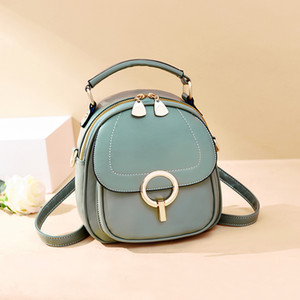 Luxurys Designers Bags Small for Girl 2020 New Fashion Single Shoulder Messenger Multi-Purpose Fashion Backpack Student Small round Bag