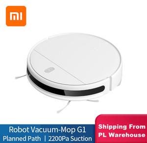 XIAOMI MIJIA مي كنس التطهير روبوت مكنسة كهربائية G1 للمنزل اللاسلكي غسل 2200PA إعصار شفط الذكية المخططة WIFI